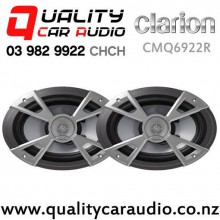 "Clarion CMQ6922R 6x9"" 160W (80W RMS) Water Resistant Coaxial Speakers (pair) with Easy Finance"