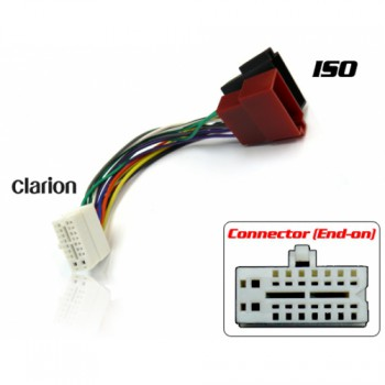 clarion iso white 764 350x350 clarion to iso wiring adapter (white connector) clarion wiring harness adapter at mifinder.co