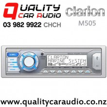 Clarion M505 Bluetooth iPod Control USB AUX NZ Tuner 8x Pre Outs Marine Stereo with Easy Finance