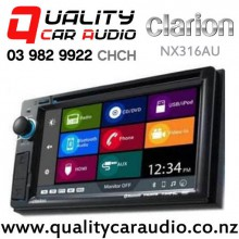 "Clarion NX316AU 6.2"" Navigation Bluetooth DVD USB Aux NZ Tuners 3x Pre Outs Car Stereo with Easy Finance"