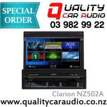 "Clarion NZ502A 7"" S DIN FLIP DVD NAV BT Unit - Easy LayBy"