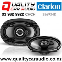"Clarion SE6934R 6x9"" 400W (50W RMS) 2 Way Coaxial Car Speakers (pair) with Easy Payments"