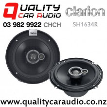 "Clarion SH1634R 6"" 370W 3 Way Coaxial Car Speakers (pair) with Easy Payments"