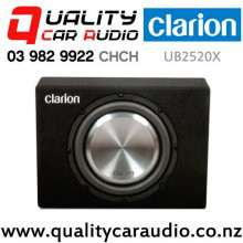 """Clarion UB2520X 10"""" 1000W (300W RMS) Single 4 ohm Voice Coil Slim Car Subwoofer Enclosure with Easy Payments"""