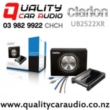 "Clarion UB2522XR 10"" 1000W (300W RMS) Single 4 ohm Voice Coil Ute Bass Pack (Amp & Kit Incl) with Easy Finance"