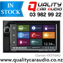 """Clarion VX316AU 6.2"""" Bluetooth DVD USB Aux NZ Tuners 3x Pre Outs with Easy LayBy"""