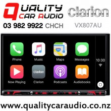 """Clarion VX807AU 7"""" Navigation Bluetooth Car Play Smartphone Mirroring DVD USB NZ Tuners 3x Pre Outs Car Stereo (map not include) with Easy Finance"""