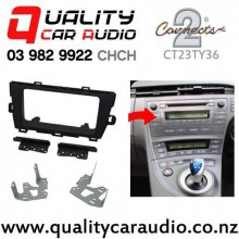 Connects2 CT23TY36 Double Din Stereo Facial Kits for Toyota Prius 2010 up (dark grey) with Easy Finance