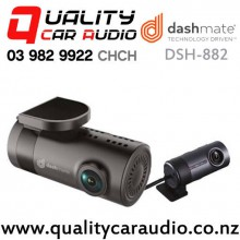 Dashmate DSH-882 Dual Channel 1080p/720p Barrel Dash Camera with GPS and WiFi with Easy Finance