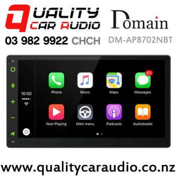"Domain DM-AP8702NBT 6.75"" Capacitive Touch-screen Navigation Bluetooth Apple CarPlay Android Auto NZ Tuners Car Stereo (map not incl) with Easy Financ"