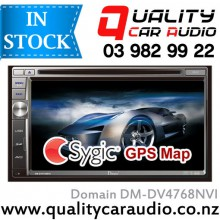"Domain DM-DV4768NVI 6.75"" Navigation (Sygic Map) Bluetooth DVD USB SD NZ Tuners with EASY Layby"