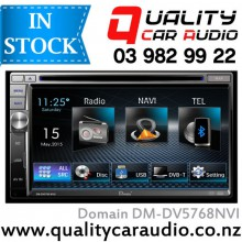 "Domain DM-DV5768NVI 6.75"" Navigation Bluetooth DVD USB AV IN NZ Tuners 2x Pre Outs with Easy Layby"