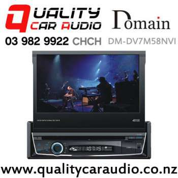 Domain DM-DV7M58NVI Bluetooth Navigation USB DVD AUX NZ Tuners 2x Pre Outs Car Stereo with Easy Payments