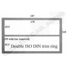 Double ISO DIN Trim Ring