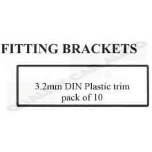 FITTING BRACKETS 3.2mm DIN Plastic trim pack of 10