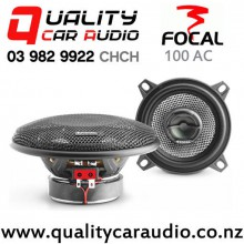 "Focal 100 AC 4"" (10cm) 80W (40W RMS) 2 Way Coaxial Car Speakers (pair) with Easy Finance"