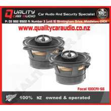 "Focal 100CA1-SG 4"" (10cm) 80W 2 Ways Coaxial Car Speakers (Pair) with Easy Layby"