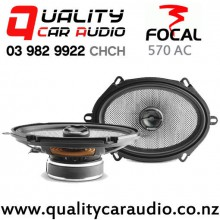 "Focal 570 AC 5x7"" 120W (60W RMS) 2 Way Coaxial Car Speakers (pair) with Easy Finance"