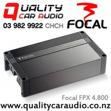 Focal FPX 4.800 Performance Series 4 Channel 370W x 2 RMS Bridgeable Compact Car Amplifier with Easy LayBy