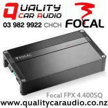 Focal 4.400SQ 4 Channel 200W x 2 RMS Bridgeable Compact Car Amplifier with Easy LayBy