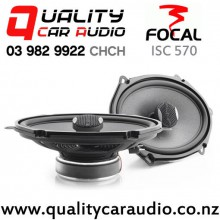 "Focal ISC 570 5x7"" 120W (60W RMS) 2 Way Coaxial Car Speakers (pair) with Easy Finance"