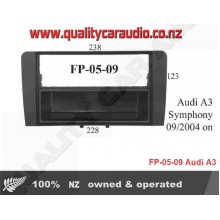 QCA FP-05-09 Audi A3 Symphony 2004 ON for Single/Double Din Fitting Kits