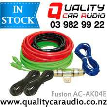 Fusion AC-AK04E 4 Gauge 800W Complete Set Car Amplifier Installtion Wiring kits with Easy Layby