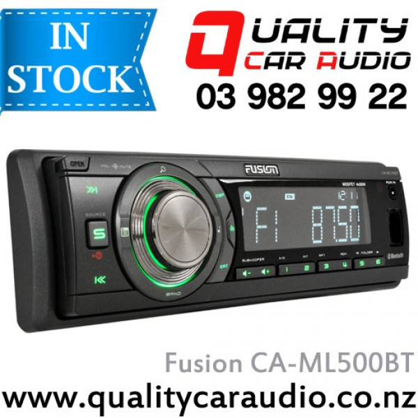 Fusion CA-ML500BT Bluetooth USB AUX Mechless NZ Tuners 2x Pre Outs with Easy LayBy