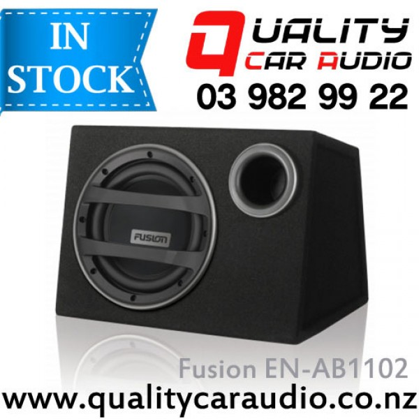 "Fusion EN-AB1102 10"" 750W Active Subwoofer incl full DIY Wiring Kits with Easy LayBy"