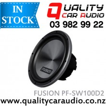 """Fusion PF-SW100D2 10"""" (25cm) 1000W Dual 2 ohms Voice Coil Car Subwoofer with Easy Layby"""