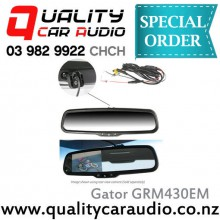 Gator GRM430EM Rear Mirrow Monitor (Reverse Camera not inclued) with Easy LayBy