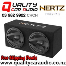 "Hertz DBX252.3 10"" 1200W (300W RMS) Dual Car Subwoofer Box with Easy Finance"