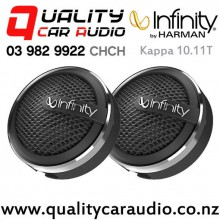 "Infinity Kappa 10.11T 0.75"" 150W (50W RMS) 2 ohm Soft Dome Tweeters (pair) with Easy Finance"