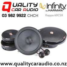 "Infinity Kappa 60CSX 6.5"" 300W (100W RMS) 2 Way Component Car Speakers (pair) with Easy Finance"
