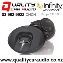"""Infinity Kappa 693.11i 6""""x9"""" 330W (110W RMS) 3 Way Coaxial Car Speakers (pair) with Easy Finance"""