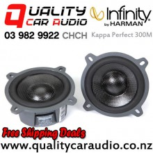 "Infinity Kappa Perfect 300M 3.5"" 300W (75W RMS) 2 Way Coaxial Car Speakers (pair) with Easy Finance"