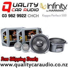 "Infinity Kappa Perfect 500 5.25"" 400W (100W RMS) 3 Way Car Component Speakers (pair) with Easy Finance"