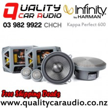 "Infinity Kappa Perfect 600 6.75"" 400W (100W RMS) 3 Way Car Component Speaker (pair) with Easy Finance"