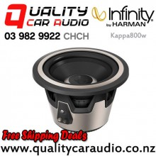 "Infinity Kappa800w 8"" 1600W (400W RMS) selectable 2 or 4 ohm Voice Coil Car Subwoofer with Easy Finance"