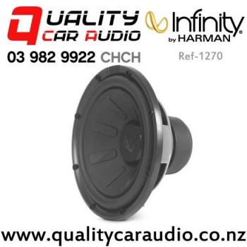"Infinity Ref-1270 12"" 1100W (275W RMS) Switchable 2/4 ohm Single Voice Coil Car Subwoofer with Easy Payments"