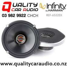 "Infinity REF-6522EX 6.5"" 165W (55W RMS) 2 Way Shallow Coaxial Car Speakers (pair) with Easy Finance"