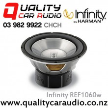 "Infinity REF1060W 10"" 1100W (275W RMS) Single 4 ohm Voice Coil Car Subwoofer with Easy LayBy"