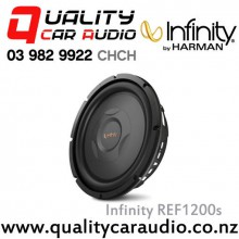"Infinity REF1200s 12"" 1000W (250W RMS) Shallow Mount Car Subwoofer with Easy LayBy"