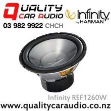 "Infinity REF1260W 12"" (30cm) 1200W (300W RMS) Single Voice Coil 4ohm Car Subwoofer with Easy LayBy"