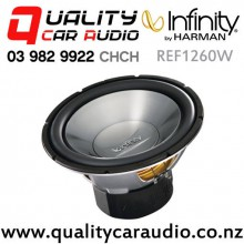 "Infinity REF1260W 12"" (30cm) 1200W (300W RMS) Single Voice Coil 4ohm Car Subwoofer with Easy Finance"
