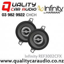 "Infinity REF3002CFX 3.5"" 75W Max 2 Way Coaxial Speakers (Pair) with Easy LayBy"