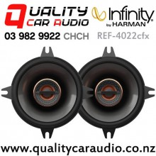 "Infinity REF-4022cfx 4"" 105W (35W RMS) 2 Way Coaxial Car Speakers (pair) with Easy Finance"