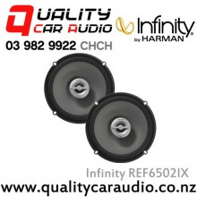 "Infinity REF6502IX 6.5"" 180W (60W RMS) 2 Ways Coaxial Car Speakers (Pair) with Easy LayBy"