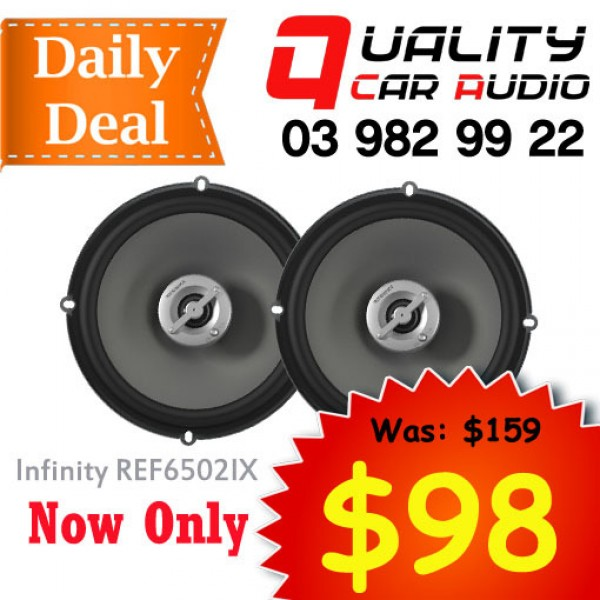 """Infinity REF6502IX 6.5"""" 180W 2 Ways Coaxial Car Speakers (Pair) with Easy Layby"""