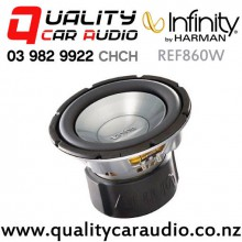 "Infinity REF860W 8"" 1000W (500W RMS) Single 4 ohm Voice Coil Car Subwoofer with Easy Finance"